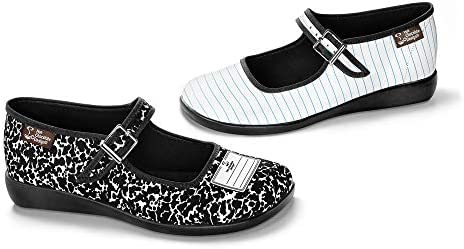 Hot Chocolate Design Chocolaticas Funky Canvas Women's Mary Jane Flat Shoes 2