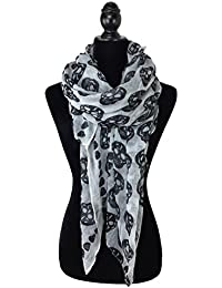 Carefree Ultra Soft and Coloful Skull Scarves Four Colors