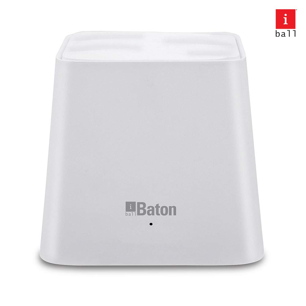 iBall WebWork 1200M Smart AC Whole Home Wi-Fi Mesh Router iB-WRD12EM (White)