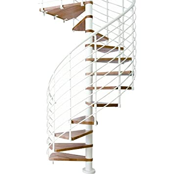 Dolle Oslo 55 D Horizontal Rail Steel Spiral Stair Kit 99 H To 111