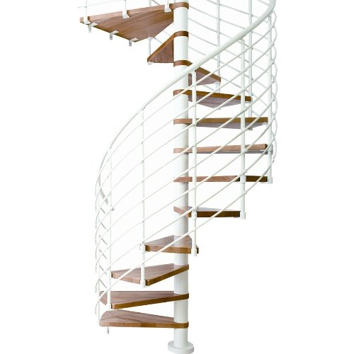 wood spiral staircase kit - 3