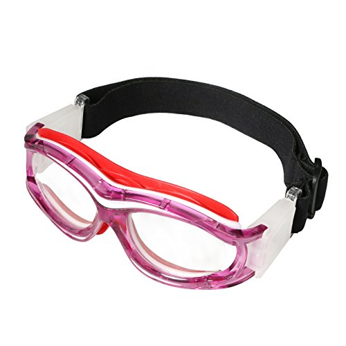 Goggle Bands (Tongshop Kids Basketball Goggles Clear Lens Teenager Sports Glasses Protection Impact-resistant Glasses Eyewear with Adjustable Strap Removable Headband Sports Goggles)
