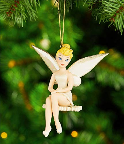 2018 Lenox Walt Disney Snowflake Tinkerbell Figurine Ornament Cutest Tink Pixie Fairy New in box ()