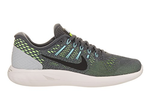 NIKE Women's Lunarglide 8 Dark Grey/Black/Ghost Green Running Shoe 6 Women US ELVJQSRr0c