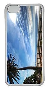 SUN VIGOR Iphone 5C Case, Castle-In-Poland Fashion Design Protective Hard Clear Phone Cover Skin Case For iPhone 5C +Screen Protector for Apple 5C