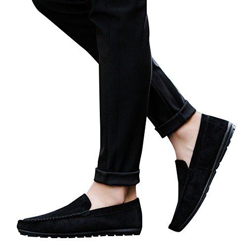 und Cool Bean Herren Junge Men Feste Fahren Bootsschuhe Casual Freizeitschuhe Schuhe nbsp;Sommer Stil Schwarz OVERMAL Bequeme Sneaker qCw84xqS