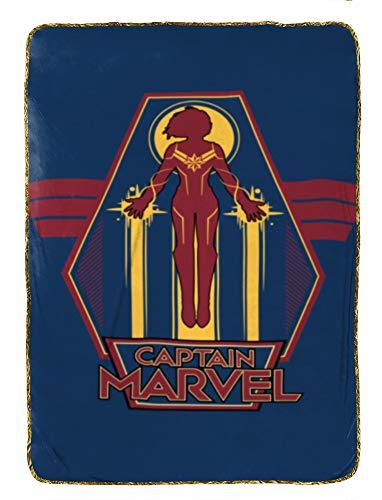 (Jay Franco Captain Marvel Taking Off Blanket, Blue)