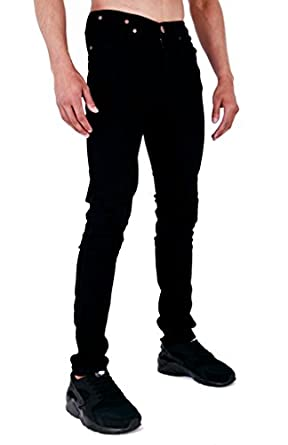 Mens Spray On Skin Tight Skinny Stretch Denim Jeans At