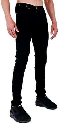 Mens Spray On Skin Tight Skinny Stretch Denim Jeans