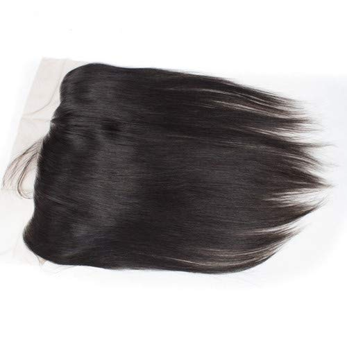 Lace Frontal Straight Closure Free Part 13x4 Ear To Ear Lace Frontal with Baby Hair,Brazilian Virgin Remy Human Hair Straight Fronta Natural Color (8 Inch)