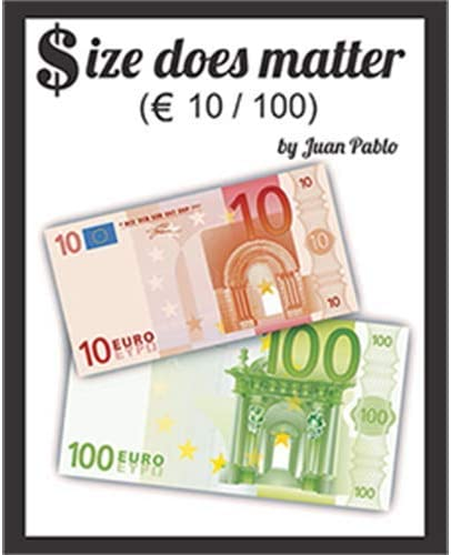 SOLOMAGIA Size Does Matter Euro 10 to 100 (Gimmicks and Online Instructions) by Juan Pablo Magic - Magic with Money - Trucos Magia y la Magia: Amazon.es: Juguetes y juegos