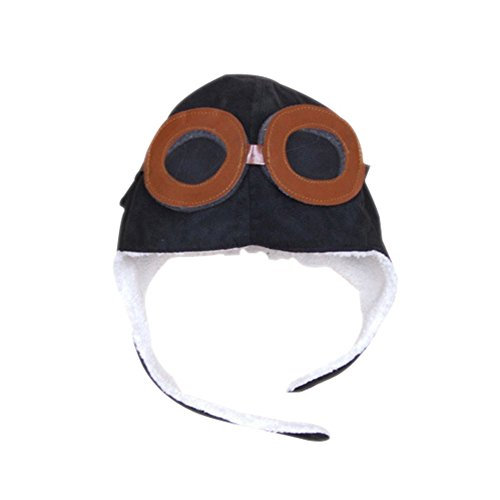Losorn Cool Kid Baby Toddler Pilot Aviator Fleece Hat With Warm Earflap for 2-5 Years Old - Fleece Pilot Boys