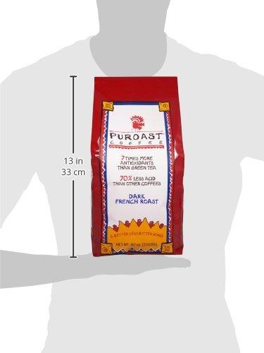 Puroast Low Acid Coffee Dark French Roast , Whole Bean, 2.5-Pound Bag