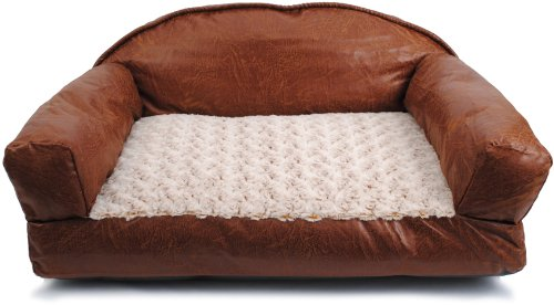 Dallas Manufacturing Co. 29-Inch by 19-Inch Faux Leather Sofa Bed