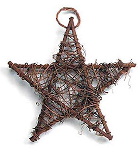 Darice 6 Natural Woven Grapevine Twig Stars Brown - 10