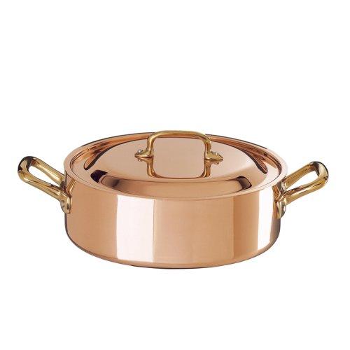 Ruffoni Historia Decor 4 Quart Copper Brazier Pot with Lid