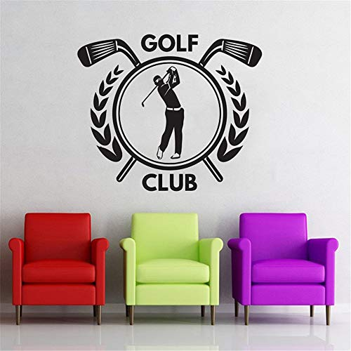 Cenrial DIY Removable Vinyl Decal Mural Letter Wall Sticker Golf Club Quotes Wall Stickers Outdoor Sports Kids Boys Girls Teenager Room Decor Home