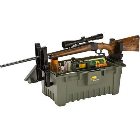 Plano Extra Large Shooter's Case with Gun Rest, Strong Plastic Made Material, Color Green by Plano