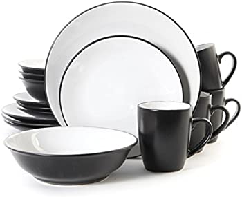 Gibson Vivendi 16 Pc. 2 Tone Dinnerware Set