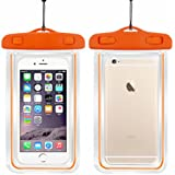 "Safeseed® Waterproof mobile phone pouch cover for smartphones upto 5.5"" - Orange"