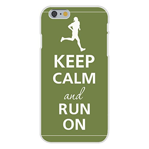 Apple iPhone 6 Custom Case White Plastic Snap On - Keep Calm and Run On Jogger