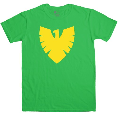 Mens Superhero T Shirt - Phoenix Symbol - Irish Green - XL