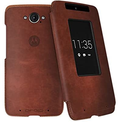 Motorola Flip Case for Motorola DROID Turbo XT1254 - Dark Natural Leather from Motorola