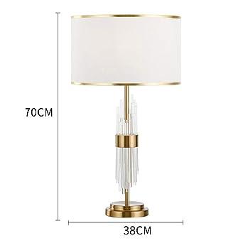 Lámpara De Mesa De Cristal Sala De Estar Dormitorio Mesa De ...