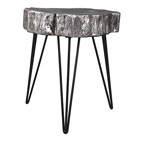Ashley Furniture Signature Design - Dellman Accent Table - Antique Silver Finish