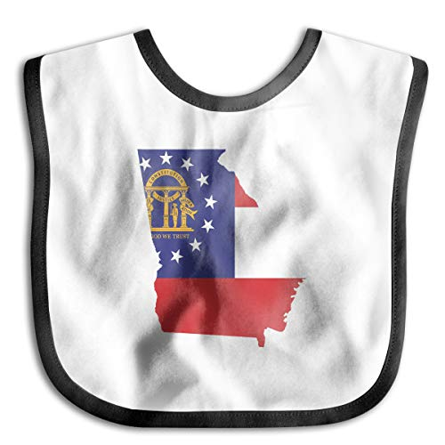 Halloween Six Flags Over Georgia (Georgia State Flag Thanksgiving Day Baby Bib/Toddler Bib/Smock,Washable,Stain and Odor Resistant,6-24 Months - Classic)