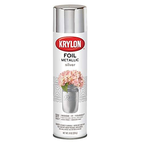 Krylon K01060000 Premium Metallic, Silver Foil, Gloss, 8 Ounce