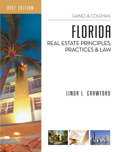 Florida Real Estate Principles, Practices, and Law