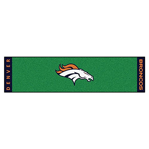 FANMATS NFL Denver Broncos Nylon Face Putting Green Mat
