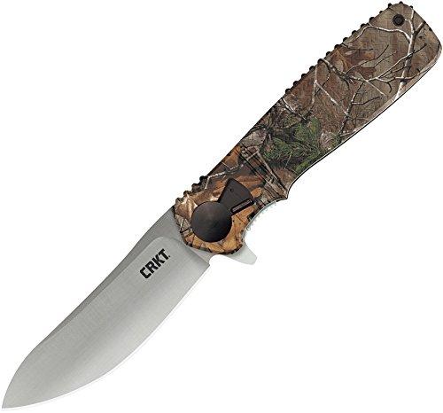 CRKT Homefront Hunt Folding Pocket Knife Take Apart Field Strip, Semi Skinner Blade, Flipper Open, Locking Liner, Camouflage Handle, Deep Carry Pocket Clip K265CXP