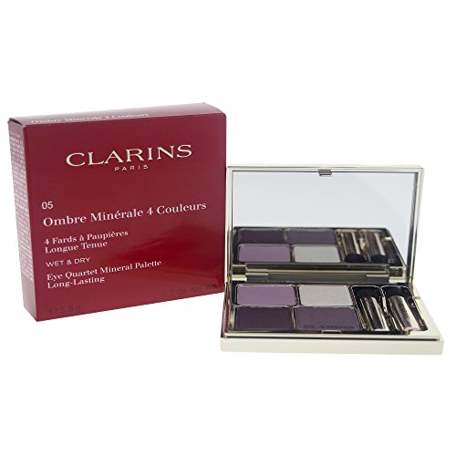 Clarins Eye Quartet Mineral Palette, No. 05 Violet, 0.2 Ounce (For Eyes Clarins Color Quartet)