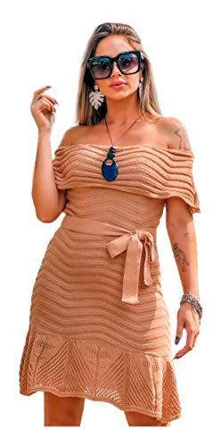 Vestido Tricot Ciganinha Rodado Tomara
