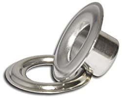 Micron Iron Nickel Self-Piercing Grommets & Washers, 500 Pcs Set Per Bag