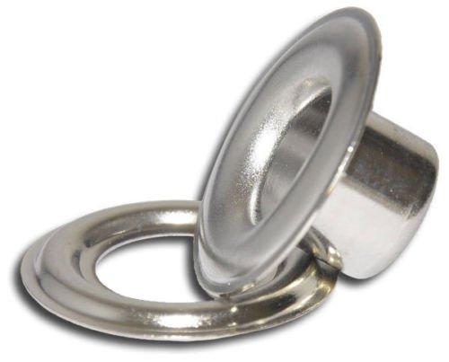 "Iron Nickel Self-Piercing Grommets & Washers, 500 Pcs Set Per Bag (#5 (5/8""))"