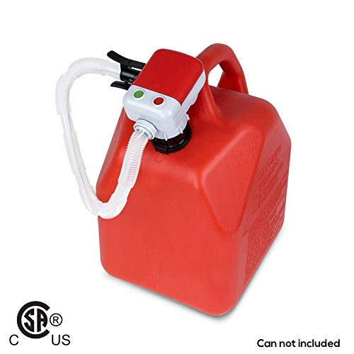 Second Gen TERAPUMP TRFA01 - No More Gas Can Lifting/Fuel Transfer Pump Fitting numerous Gas Cans (Advanced Auto-Stop Funtion and Flexible In and Out Take Hose)