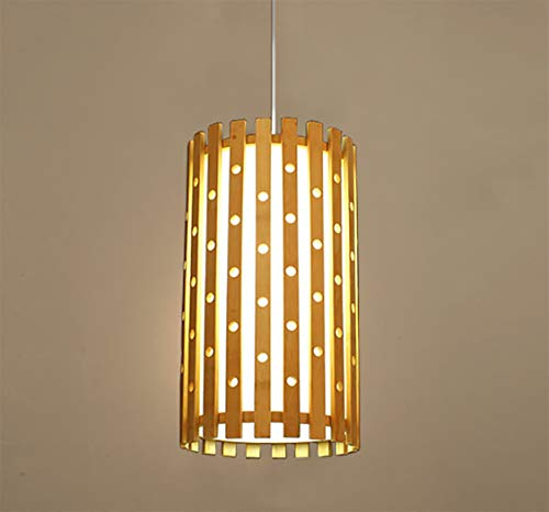 GDLight NewBamboo Chandelier Asian Style Bamboo Pendant Lamp Bamboo Rattan Ceiling Light Fixture for Kitchen Dining Hall Study Room Restaurant 9.4''16.5''
