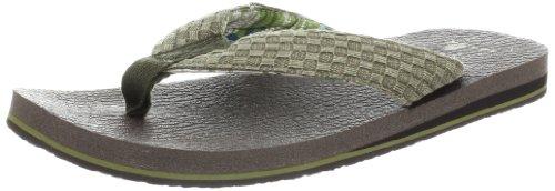 Sanuk Yogi 3 Flip Flops Olive