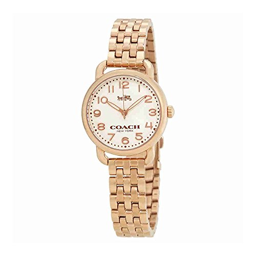 Coach Delancey Cream Dial Ladies Rose Gold Tone Watch (Coach Cream)