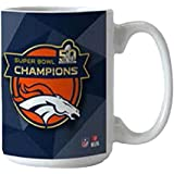 NFL Denver Broncos Boelter Roster Mug Super Bowl 50 Champions, Small, Black