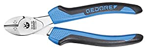 """Gedore 8316-160 JC Power side cutter with 2-component handles, 6.3"""""""