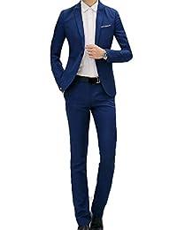 KLJR Men Contemporary Classic Regular Fit 2pcs Suit Blazer & Dress Pants