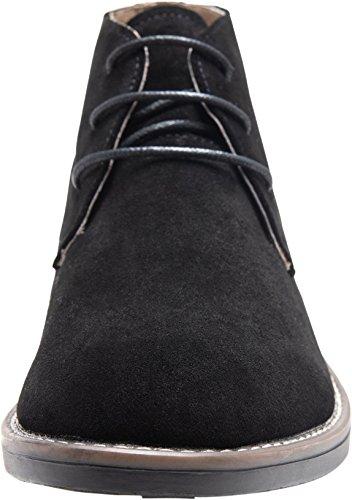 Pictures of JOUSEN Men's Chukka Boots Classic Suede Black 10 M US 7