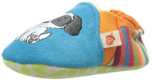 Boys Puppy Bootie (Acorn Easy-On Moc Slipper,Teal Puppy,18-24 Months M US Infant)