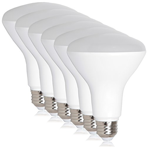 Maxxima LED BR30 60 Watt Equivalent Dimmable 8 Watt Light Bulb Neutral White 720 Lumens Energy Star, 4000K (Pack of 6)