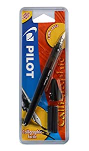 Pilot Plumix - Pluma estilográfica de trazo grueso+Cartucho de Tinta Negro 0,70mm