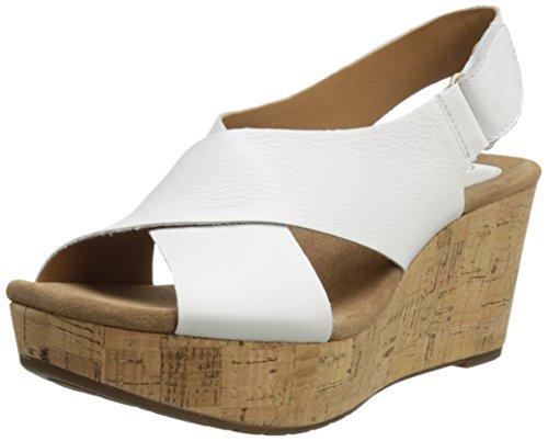 Sandalo con zeppa Caslynn Shae Clarks da donna, bianco, 9 M US